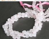 CLEARANCE Rose Quartz Flat Round Beads 7 - 8mm FULL STRAND (14 Inches)