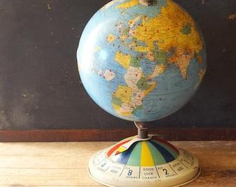 Vintage Globe Game 1952 Magnetic Global Air Race
