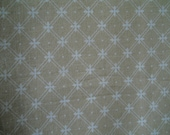"""Laura Ashley Fabric 4 Yards Width 48"""" Light Tan With Diagonal  White Cross-Hatching  Forming a Star/ Cross Cotton Fabric Sewing Supplies"""