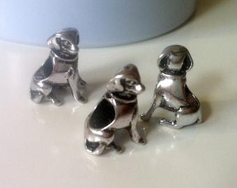 Clearance 9 Dog Metal Beads, European Bracelet