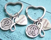 bff gift, best friends forever keychain, bff gift, sister gift, best friends gift, infinity keychain, gift for best friend, friendship gift