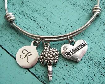 bridesmaid jewelry, wedding gift, bridesmaid bracelet, bridal shower gift for bridesmaid, bridal party gift, will you be my bridesmaid gift