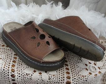 Vintage sandals, heavymade sandals, 80s, 90s style, new vintage, hippie chic