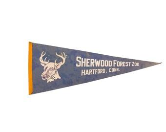 Sherwood Forest Zoo Felt Flag