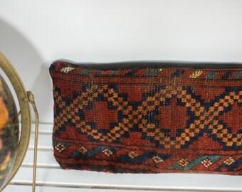 Antique Afghani Rug Fragment Pillow
