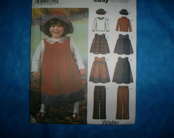 Simplicity 5936 Size 1/2-1-2-3 Girls  Outfits.