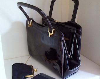 Koret Black Patent Leather Purse