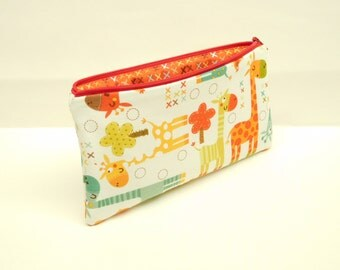 pencil case zipper pouch zipper bag makeup bag makeup pouch giraffe pencil case giraffe zipper pouch giraffe makeup bag