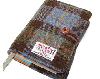Book Cover Harris Tweed, Fabric Bible Cover, MacLeod Tartan, UK Seller