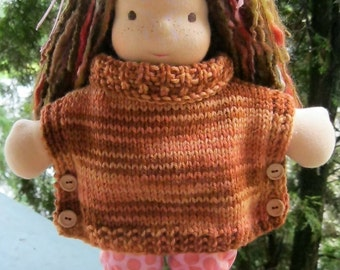 Side Buttoned Poncho for 12-14 Inch Dolls