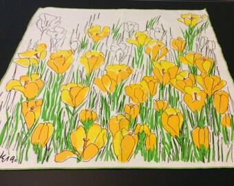 Vera Neumann Yellow Tulips Napkins (set of 4)