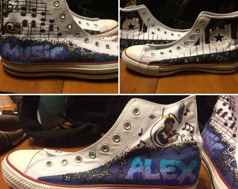 Custom High-Top Converse All Star Chuck Taylors