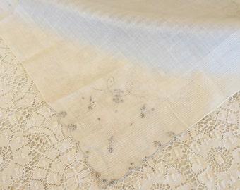Vintage Unused Madeira Handkerchief 1390