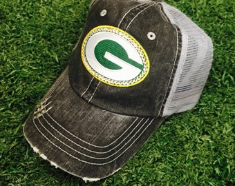 Green Bay Packers Baseball Bling Swarovski Ladies Womens Trucker Hat