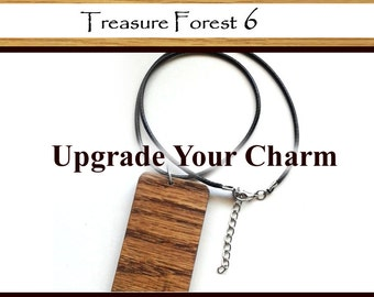 Upgrade your Wood Charm to a Necklace - Imitation Leather Cord Necklace