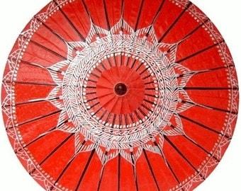 Red lotus shade