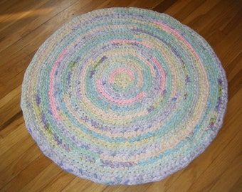 Pastel 3 Foot Rag Rug - for Etsy
