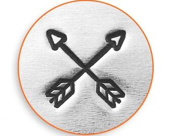 6mm Crossed Arrow Metal Stamp, ImpressArt Arrow Metal Stamp, Impress Art DIY Jewelry Making, We SHIP FAST! Metal Stamping Tools, Supplies