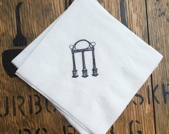 UGA Arch Beverage Napkins / Set of 50 / University of Georgia / Graduation Party