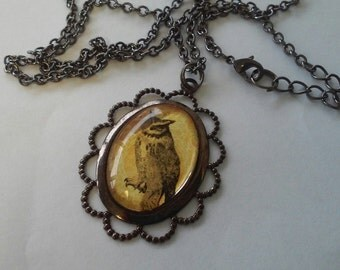 Halloween owl necklace