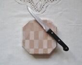 "READY TO SHIP - Small Butcher Block Cutting Board - Cheese Cutting Board - 5.25"" x 5.25"" x 1.25"""