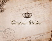 Custom Order for Bao - Vintage Czech Crystal Glass Earrings, Oxidized Brass