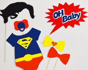 Amazing Superman Baby Shower Props , Photobooth Hero,