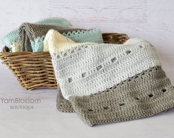 CROCHET PATTERN Let's Cuddle Crochet Blanket (throw and baby size) PDF Instant Download