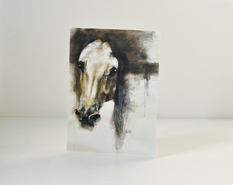 High Quality Postcard, Alerte VII, Equine Art Print