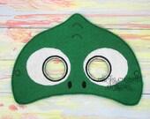 Chameleon Mask Lizard Mask - Jungle Animal Mask - Jungle Party  - Felt Dress Up Masks - Birthday Party Favor Halloween