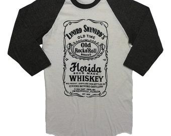 Lynyrd Skynyrd Shirt Vintage tshirt 1970s Florida Sour Mash Whiskey Jersey Old Time Rock N Roll Brand Original 70s