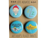 Life Aquatic, Bill Murray, Wes Anderson, Bill Murray badges, life aquatic magnet