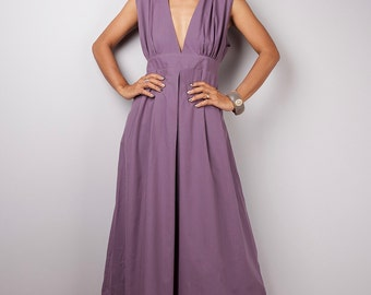 Purple Maxi Dress - Long Soft Purple dress : Oriental Secrets Collection II