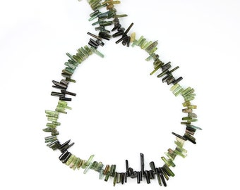 Tourmaline Natural Top Drilled Crystal Briolettes 2 Inches Green Semi Precious Gemstones
