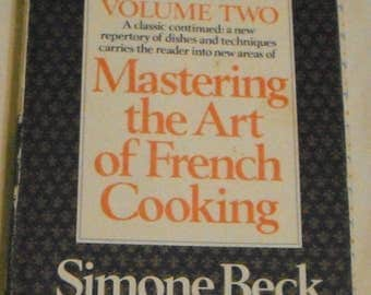 Mastering the Art of French Cooking Volume Two  Julia Child 1977 12th Printing  HBDJ