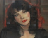 Kate Bush Signed And Titled Mounted Print