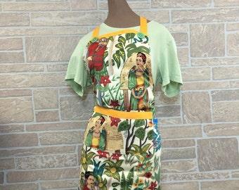 Frida Kahlo apron, Frida Kahlo lover apron, Mexican apron, Hostess apron
