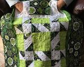 Irish Lovie Lap Quilt with Pockets