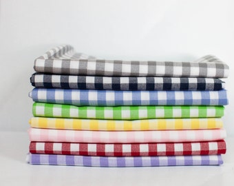 Carolina Gingham from Robert Kaufman Fabric Bundle - Fat Quarter Bundle - 8 Fat Quarter pieces (B379)
