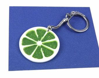 [BUNDLE] Slice lime Keyring Green