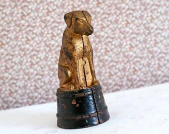 Dog On Tub Cast Iron Still Bank