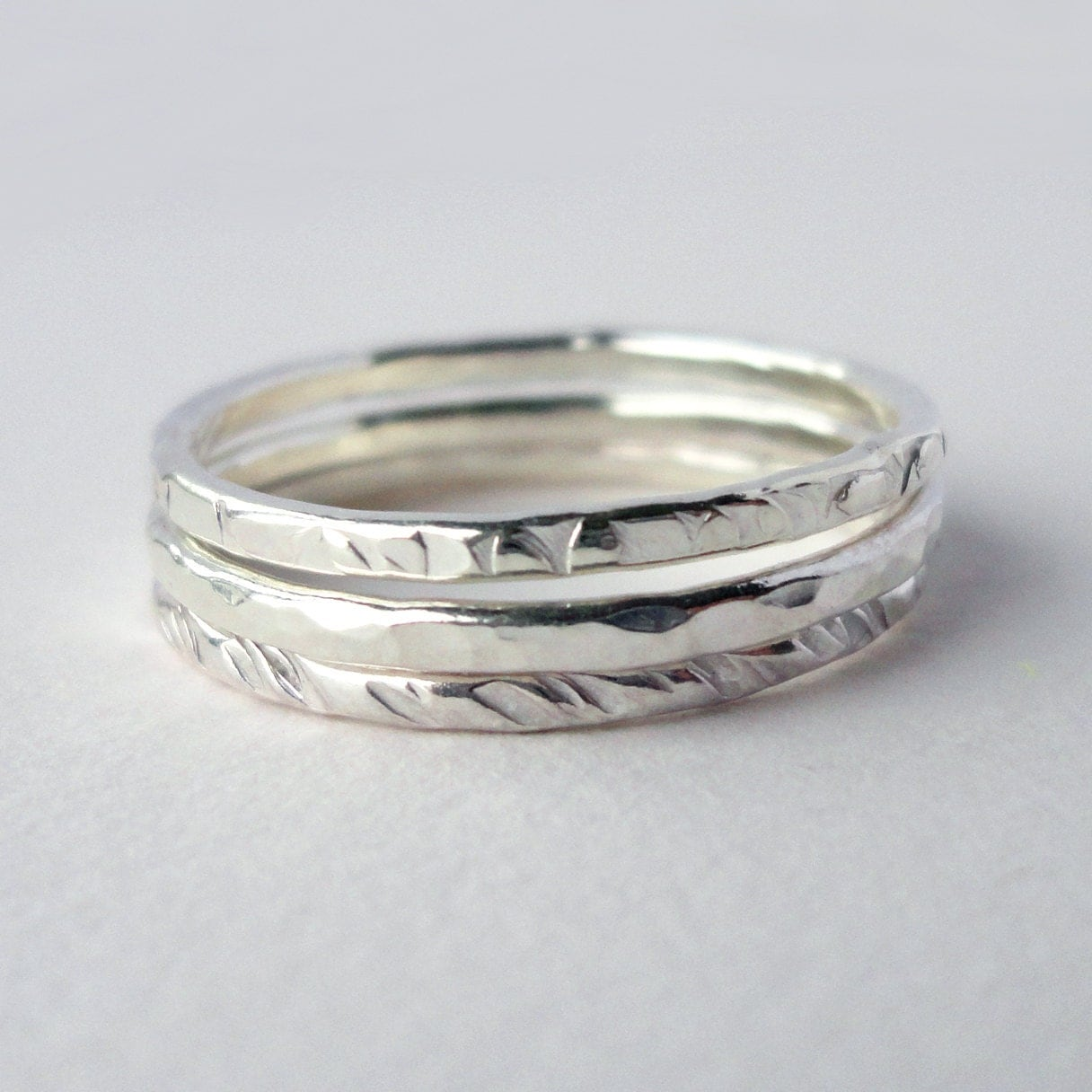 stack ring stackable ring stacking rings ring set sterling