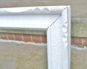 Large White Ornate Detailed Picture Frame Wood Wedding Photo Prop