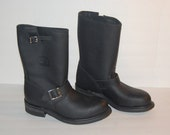 Reserved - Mens Carolina Engineer Work Boots Black Leather NOS Deadstock USA Steel Toe Sz 7.5