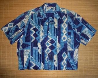 Mens Vintage 50's -  60s BOWLING Lauhala Hawaii Hawaiian Aloha Shirt Luau - XL -  The Hana Shirt Co