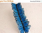 SALE 10% OFF Feather Butterflies 12 Monarch Blue Bird Feather Butterflies 3 inch wingspan size / More colors available