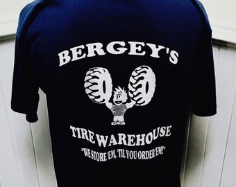 Vintage 1980s Bergey's Tire Warehouse T-Shirt - XL