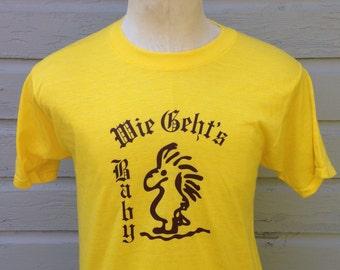 Weird 1980's Wie Gehts Baby t-shirt, soft & thin, fits like a medium