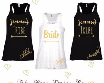 2 Bride Tribe Tank Top Perfect for Bachelorette Parties