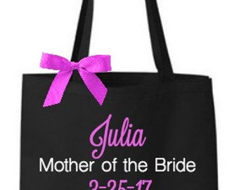 Personalized Mother of the Bride Groom Tote Bags
